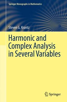 Abbildung von Krantz | Harmonic and Complex Analysis in Several Variables | 1. Auflage | 2017 | beck-shop.de