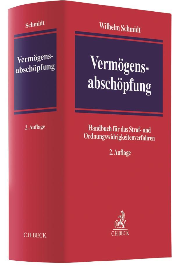 Vermögensabschöpfung | Schmidt | 2. Auflage, 2018 | Buch (Cover)