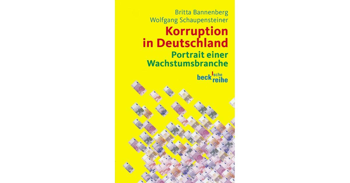 Korruption In Deutschland Bannenberg Britta Schaupensteiner