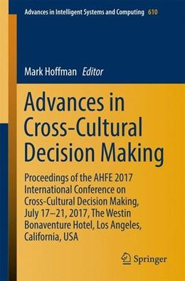 Abbildung von Hoffman | Advances in Cross-Cultural Decision Making | 1st ed. 2018 | 2017 | Proceedings of the AHFE 2017 I...