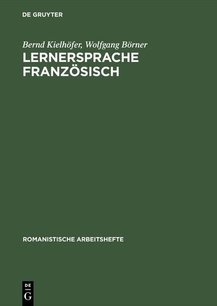 Abbildung von Börner / Kielhöfer | Lernersprache Französisch | Reprint 2017 | 1979