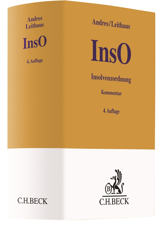 Insolvenzordnung (InsO) | Andres / Leithaus | 4. Auflage, 2018 | Buch (Cover)