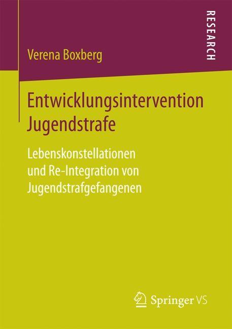 Entwicklungsintervention Jugendstrafe | Boxberg | 1. Aufl. 2018, 2017 | Buch (Cover)