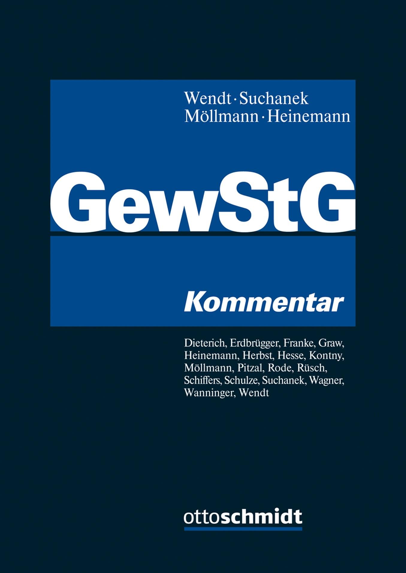 Gewerbesteuergesetz - GewStG | Wendt / Suchanek / Möllmann / Heinemann (Hrsg.), 2018 | Buch (Cover)