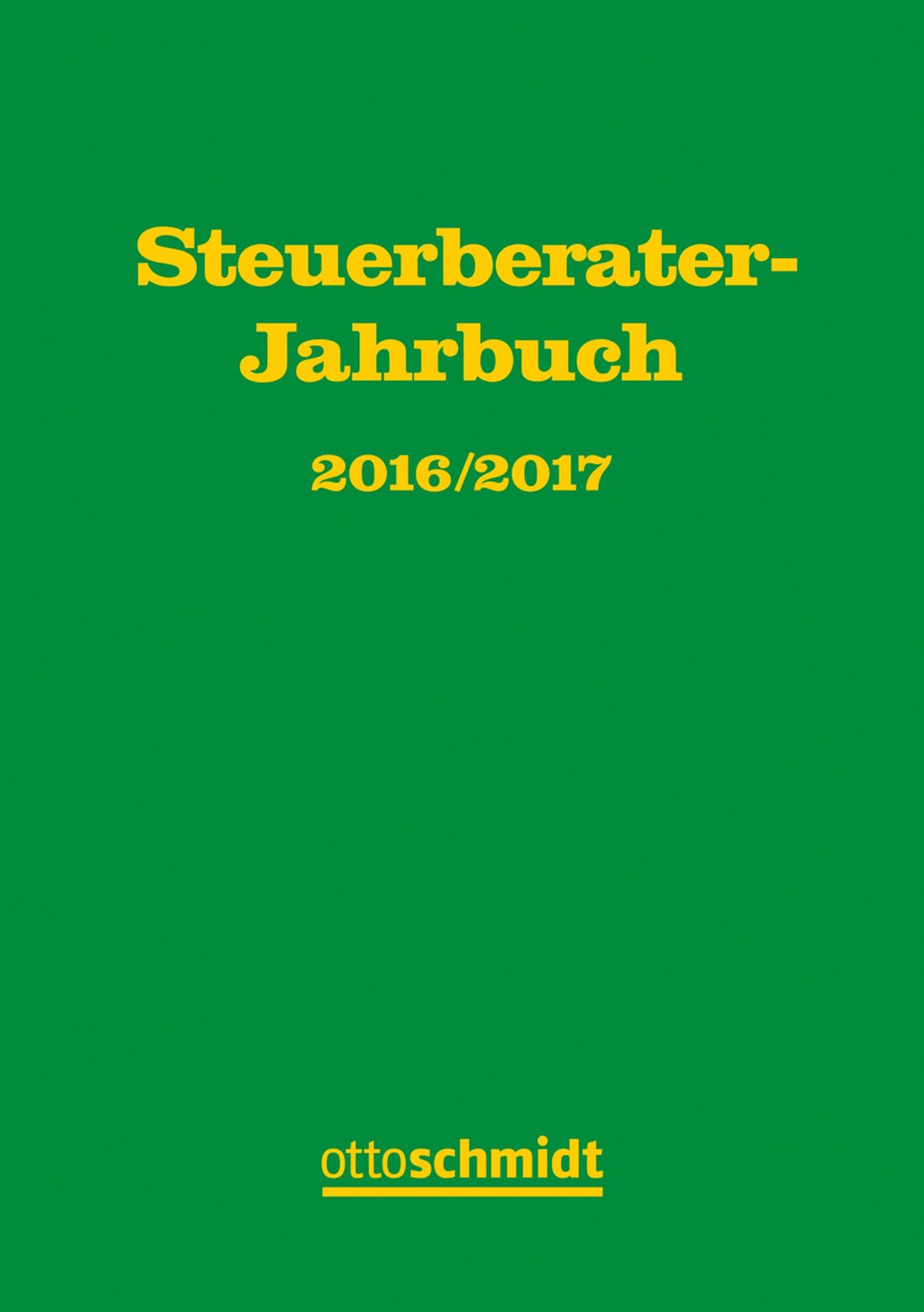 Steuerberater-Jahrbuch 2016/2017 | Fachinstitut der Steuerberater Köln (Hrsg.), 2017 | Buch (Cover)