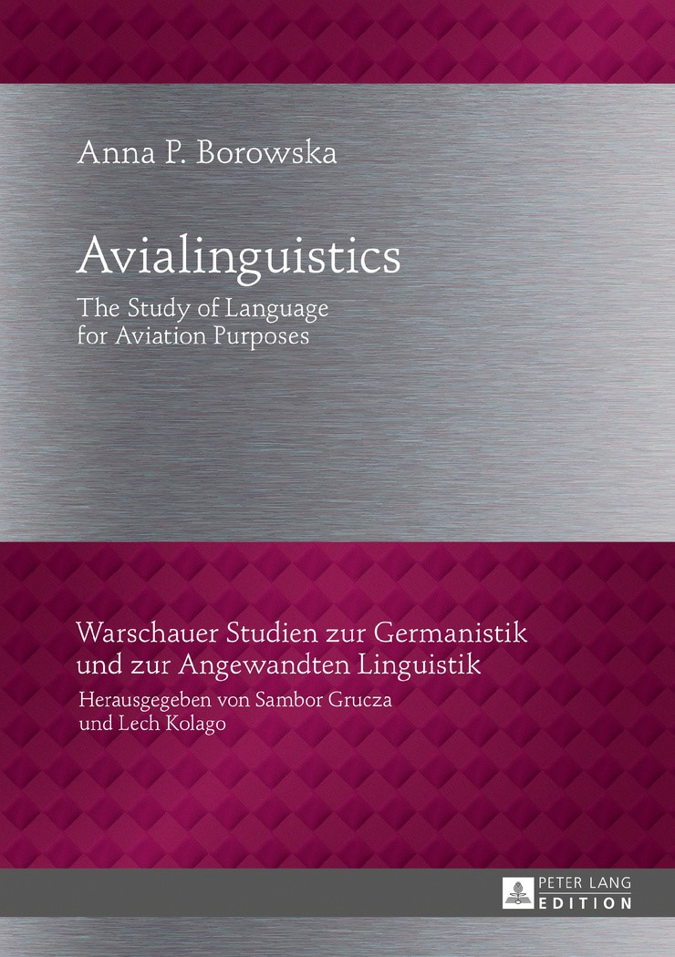 Avialinguistics | Borowska, 2017 | Buch (Cover)