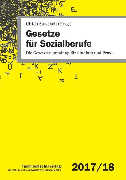 Gesetze für Sozialberufe 2017/2018 | Stascheit (Hrsg.) | 31. Auflage, 2017 | Buch (Cover)