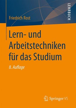 Abbildung von Rost   Lern- und Arbeitstechniken für das Studium   8. Auflage   2017   beck-shop.de