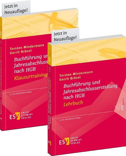 Buchführung und Jahresabschlusserstellung nach HGB - Lehrbuch und Buchführung und Jahresabschlusserstellung nach HGB - Klausurtraining • Set | Mindermann / Brösel | 2. Auflage, 2017 | Buch (Cover)
