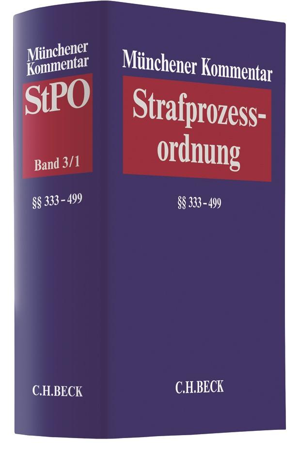 Münchener Kommentar zur Strafprozessordnung: StPO, Band 3/1: §§ 333-499 StPO, 2018 | Buch (Cover)