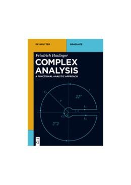 Abbildung von Haslinger | Complex Analysis | 1. Auflage | 2017