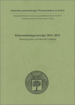 Abbildung von Vielberg | Klassensitzungsvorträge 2014–2015 | 2017 | 9
