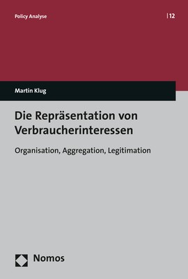Abbildung von Klug | Die Repräsentation von Verbraucherinteressen | 2017
