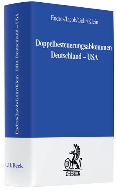 DBA Deutschland / USA Doppelbesteuerungsabkommen | Endres / Jacob / Gohr / Klein, 2008 | Buch (Cover)