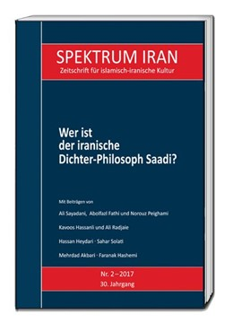 Abbildung von Kulturabteilung Der Botschaft Der Islamischen Republik Iran In Berlin | Wer ist der iranische Dichter-Philosoph Saadi? | 1. Auflage | 2017 | beck-shop.de
