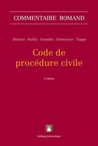 Code de procédure civile | Bohnet / Haldy / Jeandin / Schweizer / Tappy | 2. Auflage, 2018 | Buch (Cover)