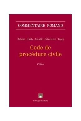 Abbildung von Bohnet / Haldy / Jeandin / Schweizer / Tappy | Code de procédure civile | 2. Auflage | 2019
