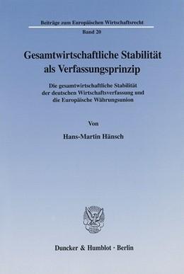 Abbildung von Hänsch | Gesamtwirtschaftliche Stabilität als Verfassungsprinzip. | 2002 | Die gesamtwirtschaftliche Stab... | 20