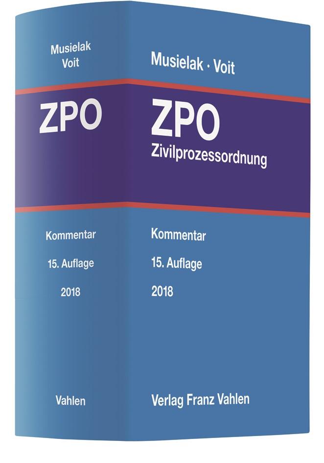 Zivilprozessordnung: ZPO | Musielak / Voit | 15. Auflage, 2018 | Buch (Cover)