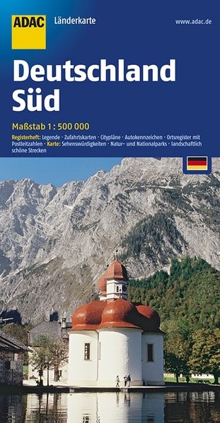 Abbildung von ADAC Länderkarte Deutschland Süd 1 : 500 000   17. Auflage   2017
