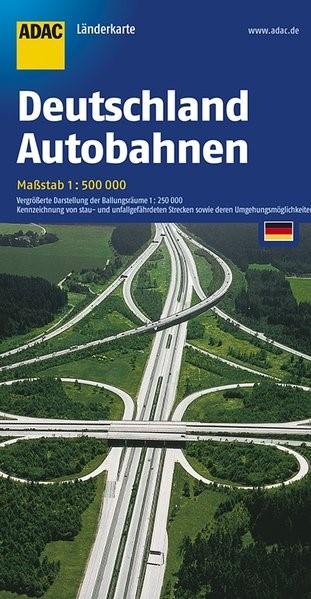 Abbildung von ADAC LänderKarte Deutschland Autobahnen 1 : 500 000 | 37. Auflage, Laufzeit bis 2017 | 2017