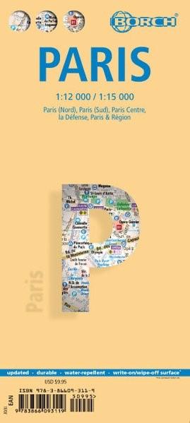 Paris 1 : 12 000 / 1 : 15 000 | 17. Auflage, 2017 (Cover)