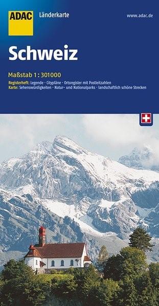 ADAC LänderKarte Schweiz 1 : 301 000   6. Auflage, 2017 (Cover)