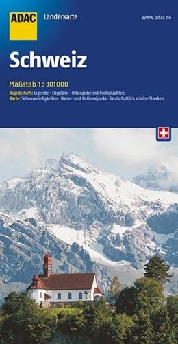 Abbildung von ADAC LänderKarte Schweiz 1 : 301 000 | 6. Auflage | 2017 | Register: Legende, Citypläne, ...