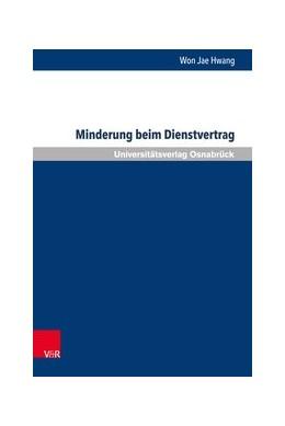 Abbildung von Hwang | Minderung beim Dienstvertrag | 1. Auflage | 2017 | beck-shop.de