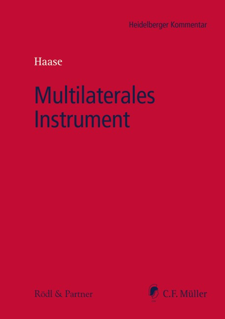 Multilaterales Instrument | Haase (Hrsg.), 2017 | Buch (Cover)
