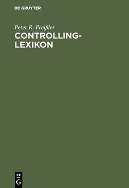 Abbildung von Preißler   Controlling-Lexikon   Reprint 2018   1995