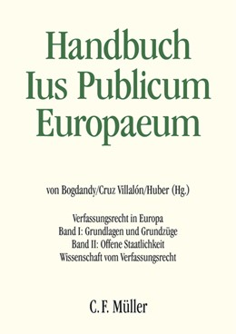 Abbildung von Bogdandy / Cruz Villalón / Huber   Handbuch Ius Publicum Europaeum   2007   2017   Verfassungsrecht in Europa