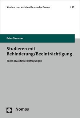 Abbildung von Stemmer   Studieren mit Behinderung/Beeinträchtigung   1. Auflage   2017   25   beck-shop.de