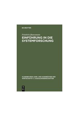 Abbildung von Hanssmann | Einführung in die Systemforschung | 4. Auflage | 1993 | beck-shop.de