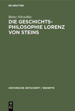 Abbildung von Nitzschke   Die Geschichtsphilosophie Lorenz von Steins   2099