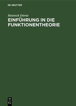 Abbildung von Dörrie | Einführung in die Funktionentheorie | 2099