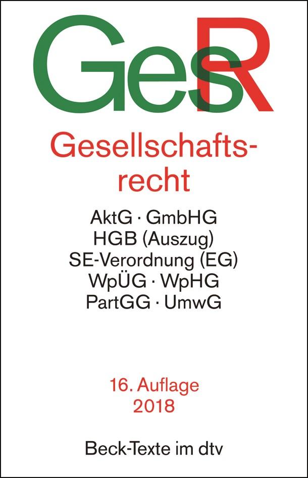 Gesellschaftsrecht: GesR | 16., überarbeitete Auflage, 2018 | Buch (Cover)