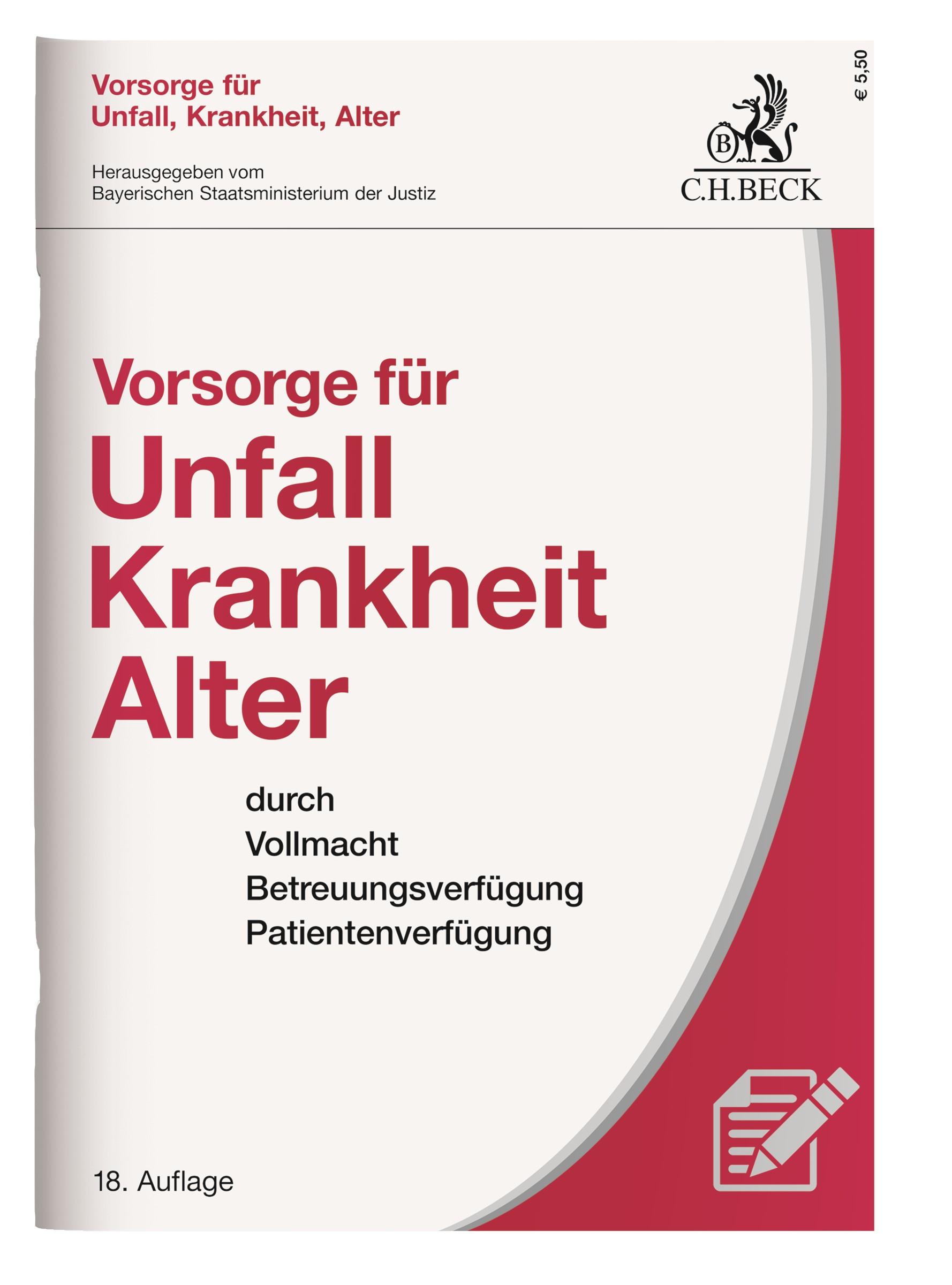 Vorsorge für Unfall, Krankheit, Alter | 18. Auflage, 2017 | Buch (Cover)