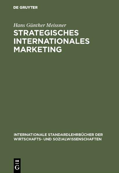Abbildung von Meissner | Strategisches Internationales Marketing | 2., überarbeitete Auflage. Reprint 2018 | 1995