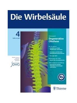 Abbildung von Die Wirbelsäule   3. Auflage   2019     Deutschsprachiges Organ der ...