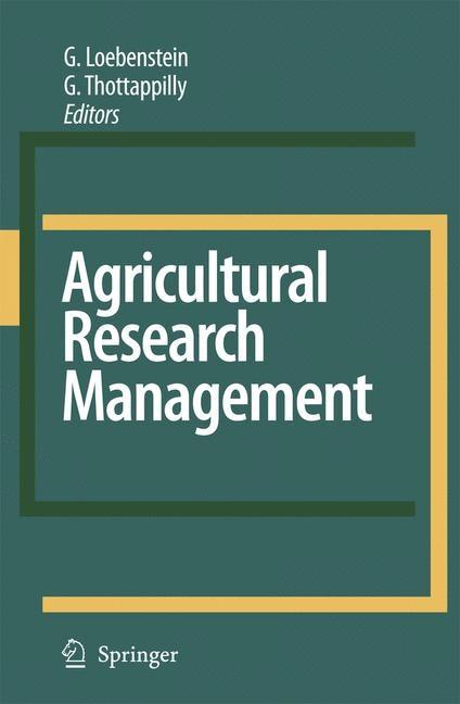 Abbildung von Loebenstein / Thottappilly | Agricultural Research Management | 2007
