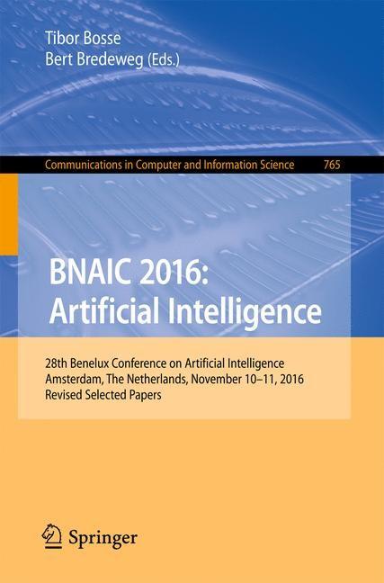 BNAIC 2016: Artificial Intelligence | Bosse / Bredeweg, 2017 | Buch (Cover)