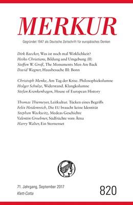 Abbildung von Demand | MERKUR Deutsche Zeitschrift für europäisches Denken - 2017-09 | 1. Auflage | 2017 | beck-shop.de