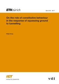 Abbildung von Dong | On the role of constitutive behaviour in the response of squeezing ground to tunnelling | 2017