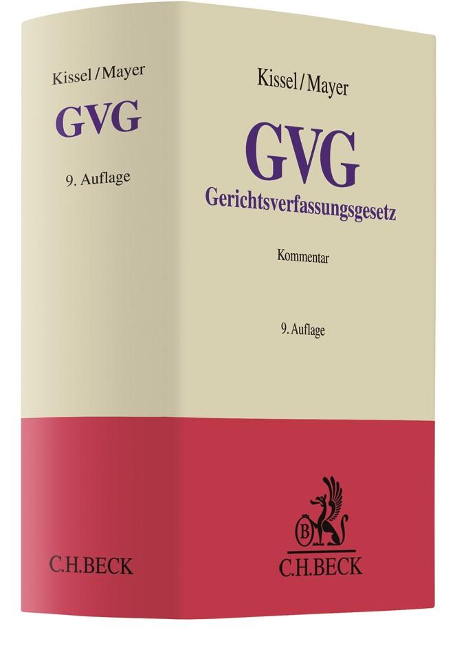 Gerichtsverfassungsgesetz: GVG | Kissel / Mayer | 9. Auflage, 2018 | Buch (Cover)