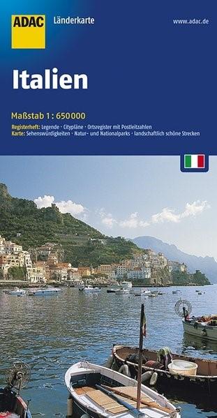 ADAC LänderKarte Italien 1 : 650 000 | 12. Auflage, 2017 (Cover)