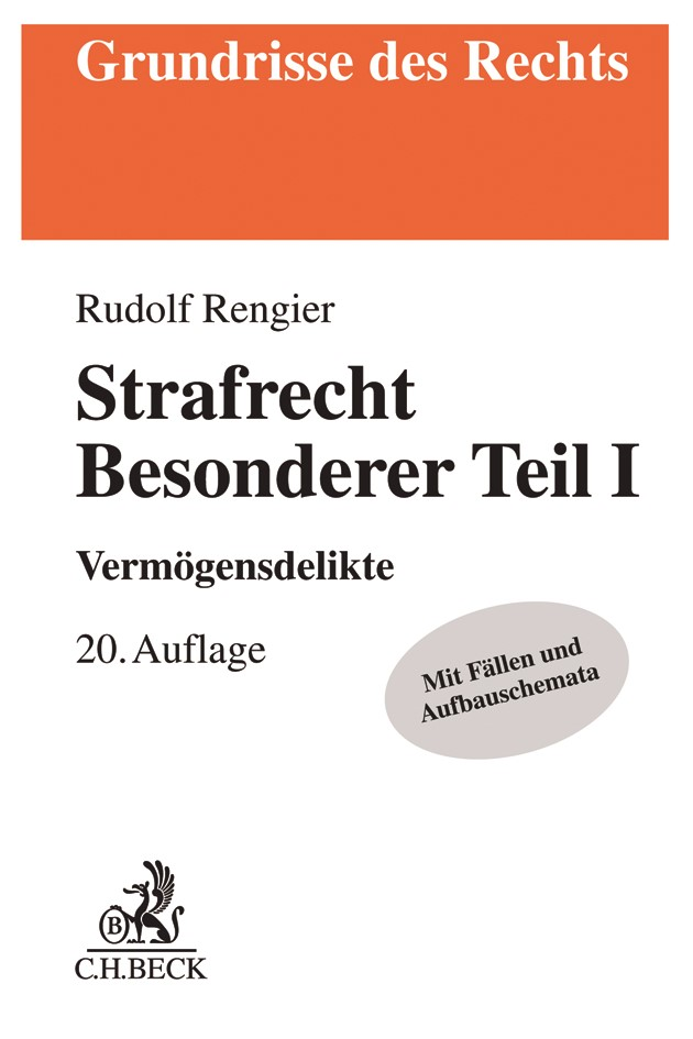 Strafrecht Besonderer Teil I: Strafrecht BT I | Rengier | 20. Auflage, 2018 | Buch (Cover)