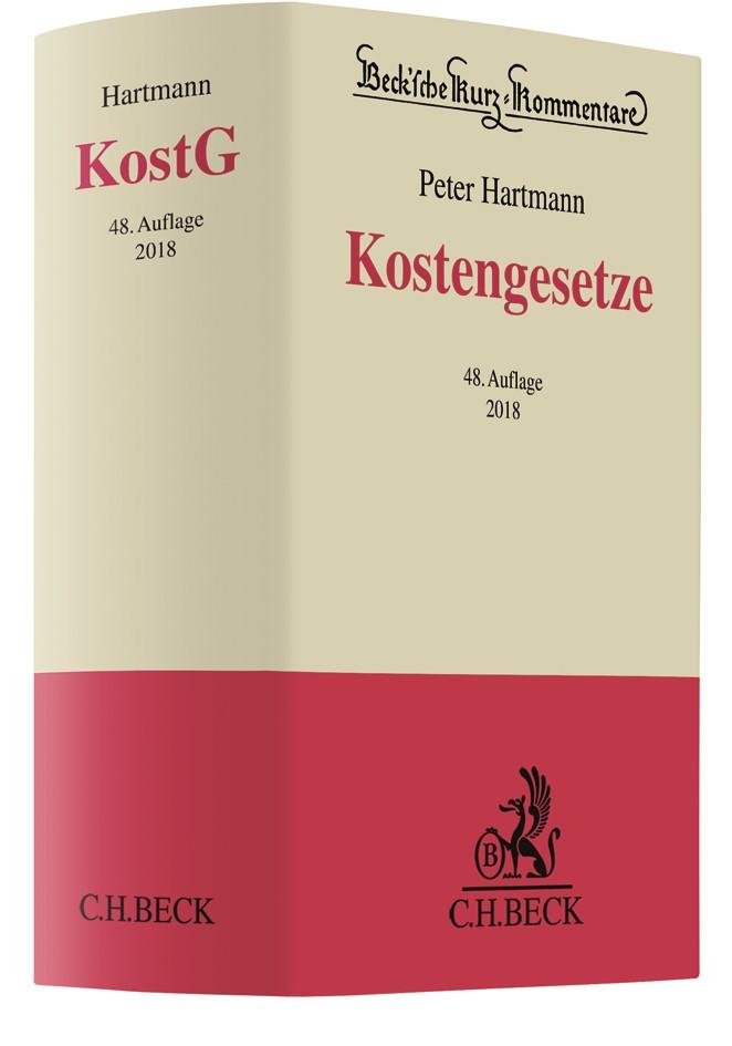 Kostengesetze: KostG | Hartmann | 48., neu bearbeitete Auflage, 2018 | Buch (Cover)