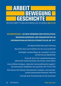 Abbildung von Schmidt / Czitrich-Stahl | Arbeit - Bewegung - Geschichte | 2017 | Zeitschrift für historische St...