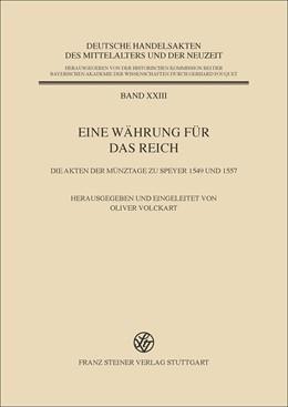 Abbildung von Eine Währung für das Reich   1. Auflage   2017   beck-shop.de